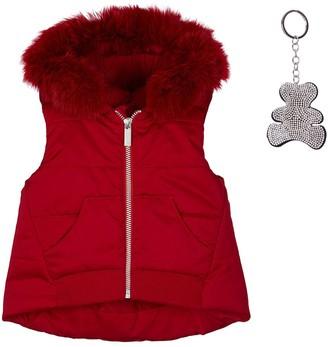 Lapin House Faux Fur Trim Hooded Gilet