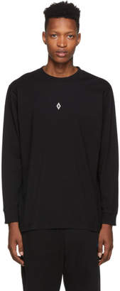 Marcelo Burlon County of Milan Black Heart Wings Long Sleeve T-Shirt