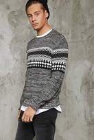 Forever 21 FOREVER 21+ Marled Fair Isle Sweater