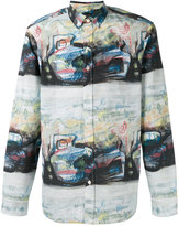 Burberry abstract print shirt - men - Cotton - M