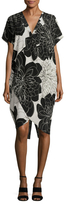 Tracy Reese Silk Printed Cocoon Dress