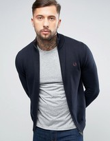 Fred Perry Zipthru Cardigan in Navy