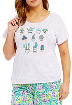Sleep Sense Plus Cactus & Succulent Jersey Sleep Top