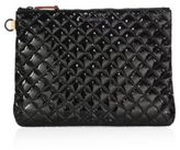 M Z Wallace Metro Quilted Oxford Patent Leather Pouch