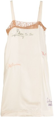 Alysi Embroidered Slip Dress