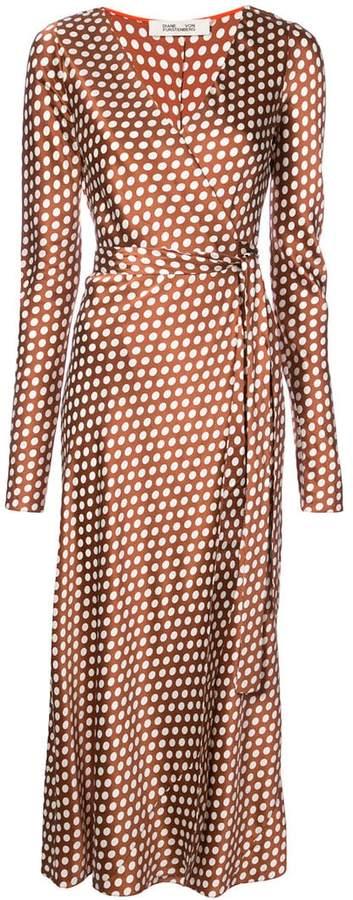 Diane von Furstenberg baker dot wrap dress