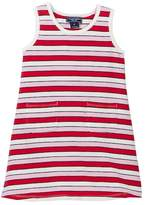 Toobydoo Positano Pink Striped Tank Dress (Toddler Girls)