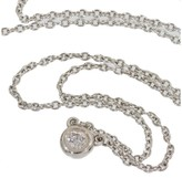 Tiffany & Co. 925 Sterling Silver Elsa Peretti Diamond by the Yard Necklace