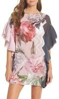 Ted Baker Palace Gardens Ruffle Cover-Up Dress