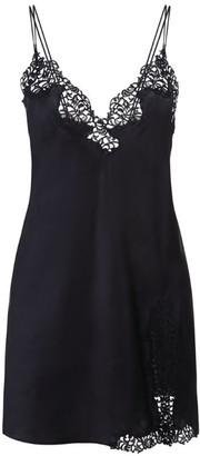 La Perla Petit Macrame Silk-Rich Slip Dress