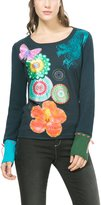 Desigual Patch Design Knit Long Sleeve Piti Top M UK 12