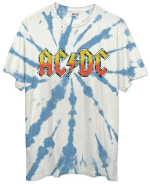 Junk Food Clothing Tie-Dyed Ac/Dc Crewneck T-Shirt