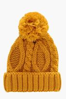Boohoo Pom Pom Cable Knit Beanie