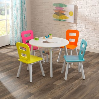 Kid Kraft Round Storage Table & 4 Chair Set