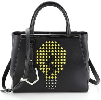 Fendi 2Jours Bag Studded Leather Petite