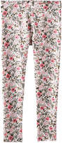 Joe Fresh Kid Girls' Floral Print Legging, Off White (Size XL)