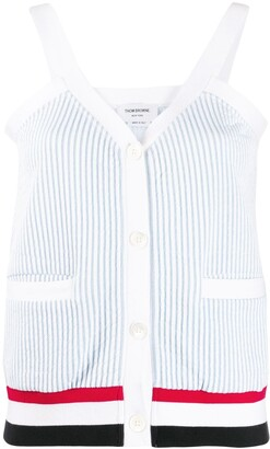 Thom Browne Seersucker Knitted Tank Top