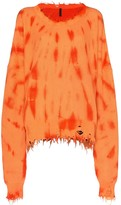 Unravel Project tie-dye slouchy knit jumper