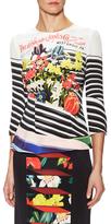 Mary Katrantzou Napal Silk Floral Print Top