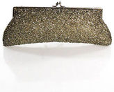 Moyna Silver Beaded Clutch Handbag Size Small
