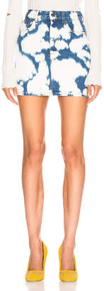 Burberry Denim Mini Skirt in Blue | FWRD