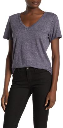 Michael Stars Blake Linen Blend V-Neck T-Shirt