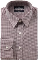 Hart Schaffner Marx Non-Iron Classic-Fit Hidden Button-Down Collar Checked Dress Shirt