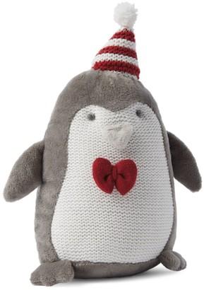 Elegant Baby Xmas Penguin Cotton Knit Toy