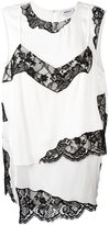 DKNY layered lace insert top