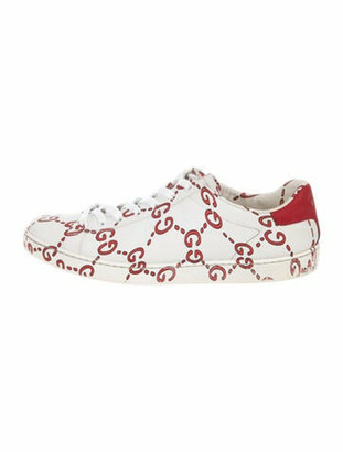 Gucci Ace GG Print Sneakers White