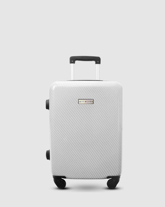 Jett Black Carbon White Series Carry On Suitcase