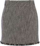Karen Millen Tweed Skirt - Black/multi