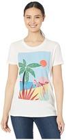 Lucky Brand Tropical Crew Tee (Marshmallow) Women's Clothing