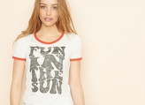 "Garage ""Fun In The Sun"" Midi Ringer Tee"