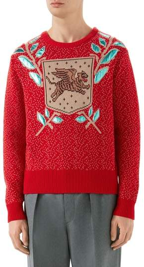 Gucci Jacquard Wool Blend Sweater