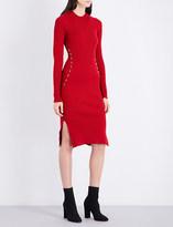 Thierry Mugler Metallic-detail stretch-knit dress