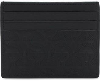 Salvatore Ferragamo Logo Embossed Leather Card Holder