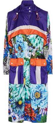 Mary Katrantzou Paint By Numbers Printed Satin Hooded Coat