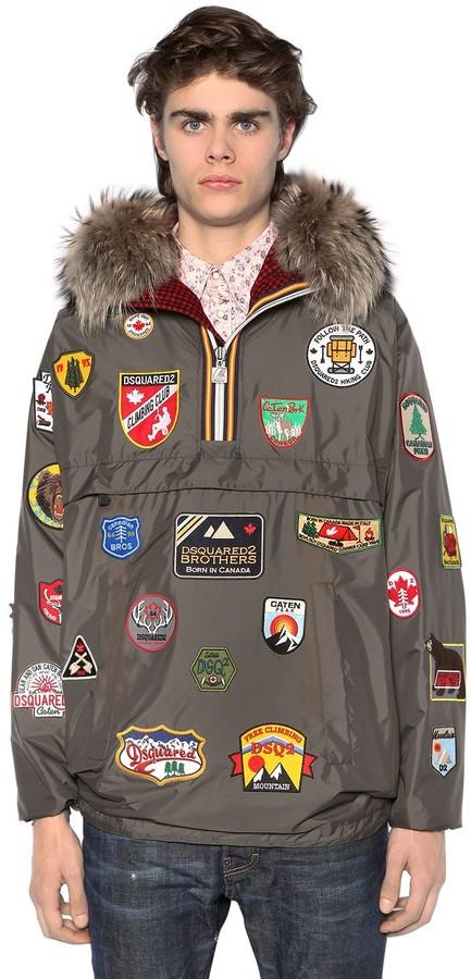 DSQUARED2 K-Way Reversible Patches & Plaid Jacket