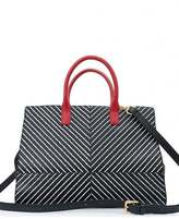 Lulu Guinness Daphne Diagonal Striped Leather Bag
