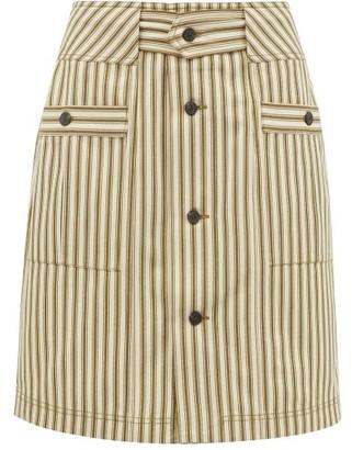 Mara Hoffman Lici Patch-pocket Striped Midi Skirt - Green Stripe