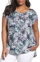 Sejour Plus Size Women's Cap Sleeve Tee