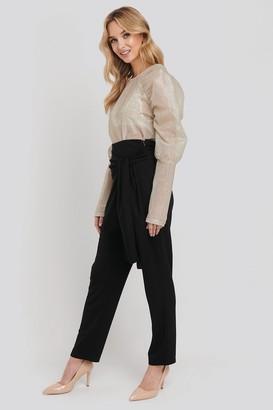 NA-KD High Waist Crossover Bow Pants