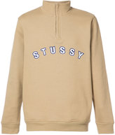 Stussy Quarter Zip Mock Neck sweater