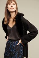Anthropologie Faux-Fur Cashmere Cardigan