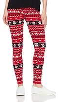Blizzard Bay Women's Plus Size Santa Face Pattern Leggings