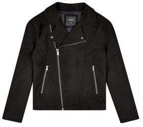 Dorothy Perkins Mens **Burton Black Suede Biker Jacket, Black