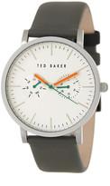 Ted Baker Men&s Quartz Analog Leather Strap Watch