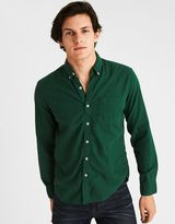 American Eagle Outfitters AE Solid Oxford Shirt