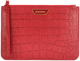 Emporio Armani classic textured clutch - women - Cotton/Leather - One Size